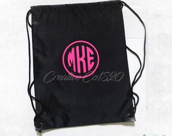 Custom Drawstring Backpack   Custom Drawstring Bag   Gym Bag   Gym Tote   Custom Gym Bag   Custom  Gym Tote   Monogram Gym Bag