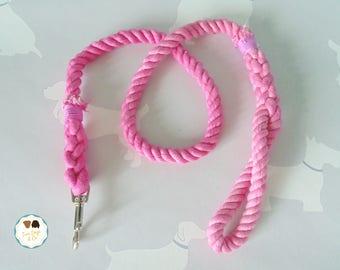 Pink Rope Dog Lead / Rope Dog Leash / 4ft Rope Dog Lead / 12mm / Rope Lead / Rope Leash / Pet Supplies