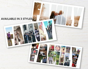 Custom Family Photo Collage, Personalized Picture Collage, Custom Gift, Family Print, Family Gift, Mom Gift, Birthday Present, Digital File