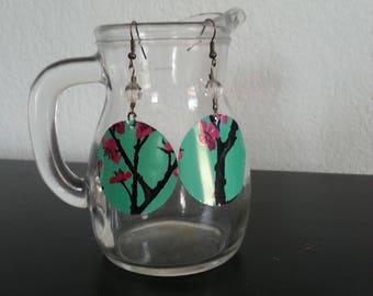 Upcycled Arizona tea can earrings