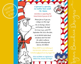 Dr. Suess Baby Shower Invite | DIGITAL