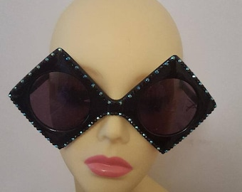 FunSpex Sunglasses Adorned with Swarovski Crystal -  Ace Of Diamonds