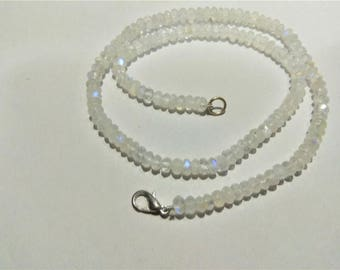 ON SALE -90 ct AAA Natural Rainbow Moonstone 5 to 5.5mm faceted rondelle Beads, rainbow moonstone necklaces, GemStone Necklaces Jewellery.