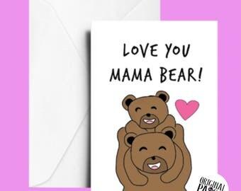 Mama bear Mother's Day card