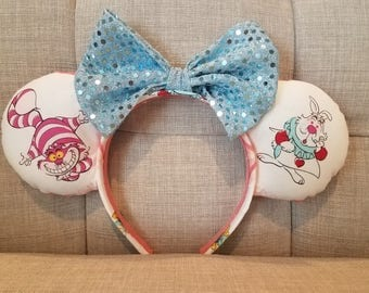 Pink Alice in Wonderland Mickey Ears