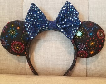 Colorful Firework Mickey Ears