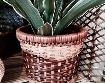 Wicker  flowerpot | Bamboo flowerpot | Rattan flowerpot | Rattan planter | Vintage planter