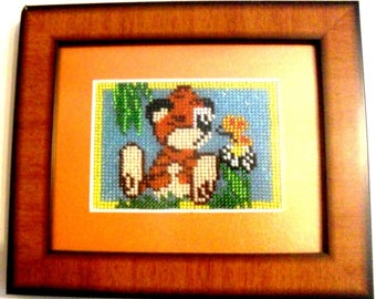 Beaded Painting, Picture Lion Cub