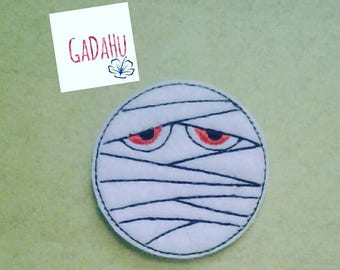 Mummy feltie. Embroidery Design 4x4 hoop Instant Download. Felties. Halloween Feltie.