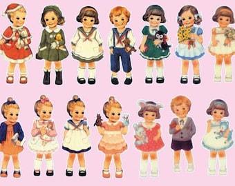 Girls 01 iron-on transfer sheet transfer decal