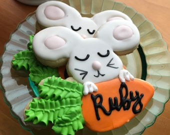 Personalized Bunny Cookie
