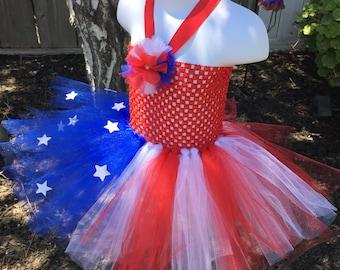 USA, 4th of July, Fourth of July, tutu dress, red, white, and blue tutu