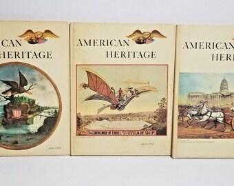 Vintage American Heritage April 1962 1964 June 1968 Set of 3