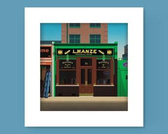 Manzes Pie Shop Walthamstow Print
