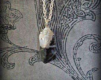 Black & White Agate Necklace