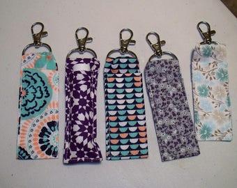 Lip Balm Holder, Key Chain, Chap stick Case, Swivel Hook, Handmade