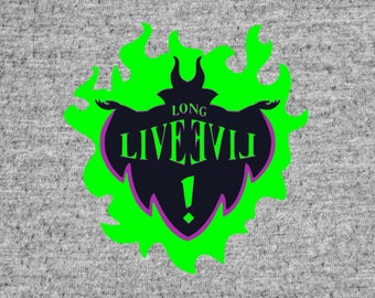 Long live evil svg, Disney descendants svg,maleficent svg, maleficent clipart,png,jpg