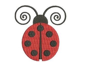 Ladybug Lady Bug  Fill Embroidery Design Machine Embroidery Instant Download Digital File EN1046_F1
