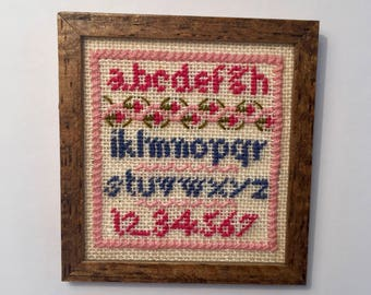 Miniature Cross Stitch Sampler