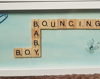 Baby boy scrabble picture