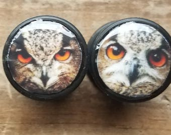 "9/16"" silicone owl plugs"