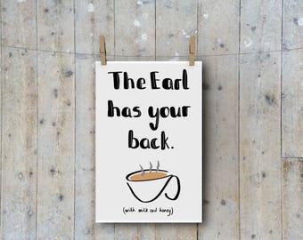 Earl Grey Tea A4 Print