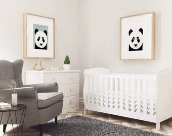 A3 Pair of Pandas