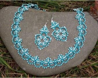 Jewellery, Jewellery necklace, jewelry, Necklaces, gift for Women , Gift, Gift for girls, green Jewellery, Tatting Bracelet, beads Set