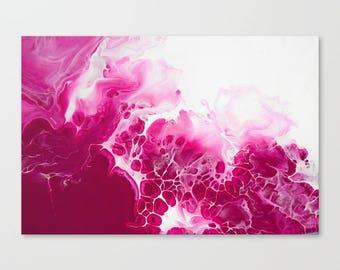 Original Abstract Wall Art Print, A2, A1, Home Decor, Interior, Raspberry