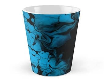 Original Art Print Coffee Tea Mug Cup - Blue Darkness. Custom Order, Pre Order.