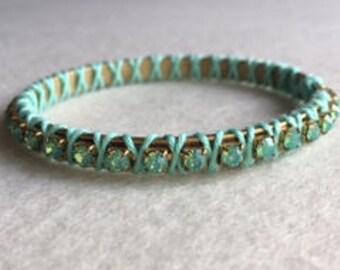 Bracelets, summer, Rhinestones, colors