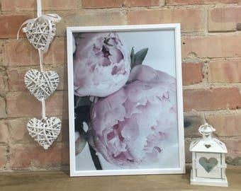 Handmade Dusky Pink Peonies colour print