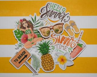 Hello Summer Ephemera/Die Cut Pack