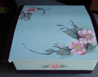 Hand painted dresser box.