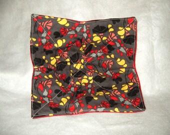 Bowl Cozies - Gray w/yellow, red