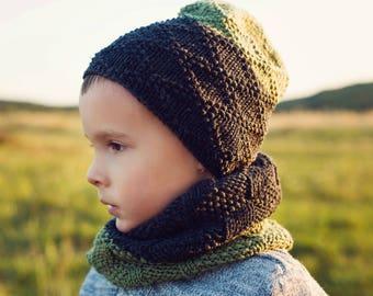 Knit accessories, knit hat, knit scarf, mitten, winter set of 3, winter toddler hat, children hat, toddler beanie, knit beanie, toddler cowl