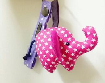 Colorful Elephant key chain.