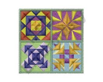 Quilt Blocks - Machine Embroidery Design
