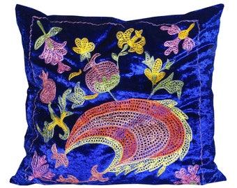 marvelous uzbek silk embroidered pillow case suzani 693