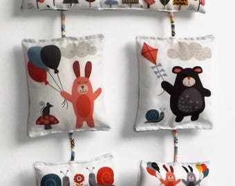 "Collection ""forest animals"" baby mobile"