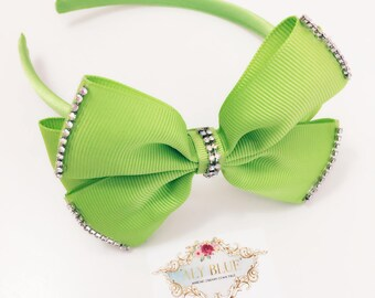 Baby Headband Green with Golden Detail