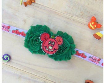 Cutest Pumpkin Headband / Green and Orange Headband / Baby Halloween Headband