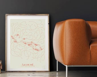 Print Design Island - Plan minimalist 30x40cm