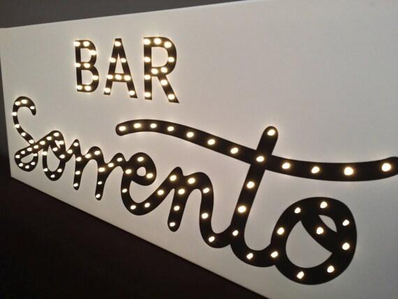 Light Up Signs Custom: Light Up BAR Sign Bar Sign Personalized Light Up Sign