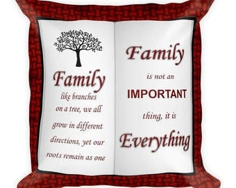 Family Like Branches on a Tree Soft Square Pillow