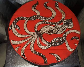 The Mighty Squid, Hand-painted Cheese Box