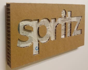 Spritz - Italian signs, cardboard furniture, food sign, sign in board, sign for kitchen, door sign, signs | Tropparoba - 100% made in Italy