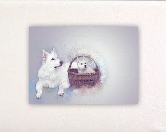 Dogs - Watercolor prints, watercolor posters, nursery decor, nursery wall art, wall decor, wall prints 2 | Tropparoba - 100% made in Italy