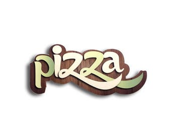 Pizza - Pizza sign, Shop sign, Wall signs, Food signs, Wooden signs, Signs kitchen, Pizza restaurant decor | Tropparoba - 100% made in Italy