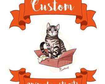 Custom animal portrait/Portrait d'animaux personnalisé